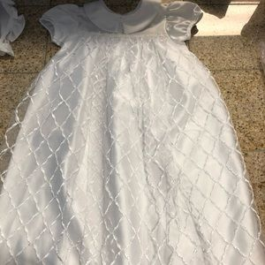 White christening gown NEW